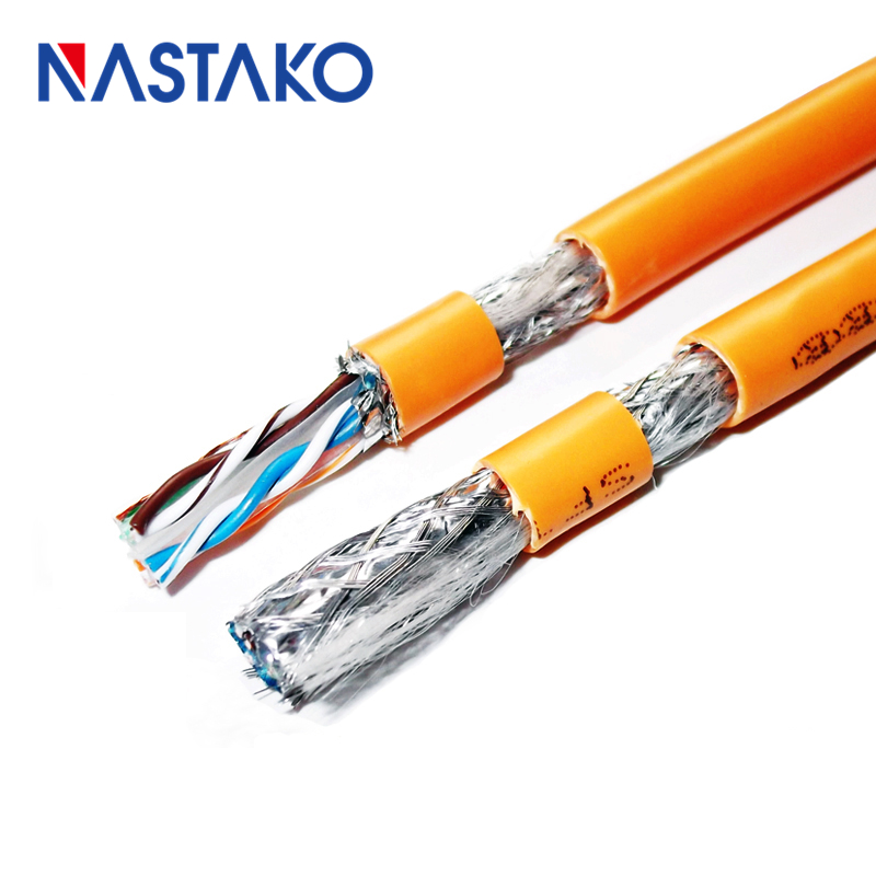 300/'ft 23-AWG CAT6 Black Network Shielded Cable Outdoor UL Copper Ethernet Lan