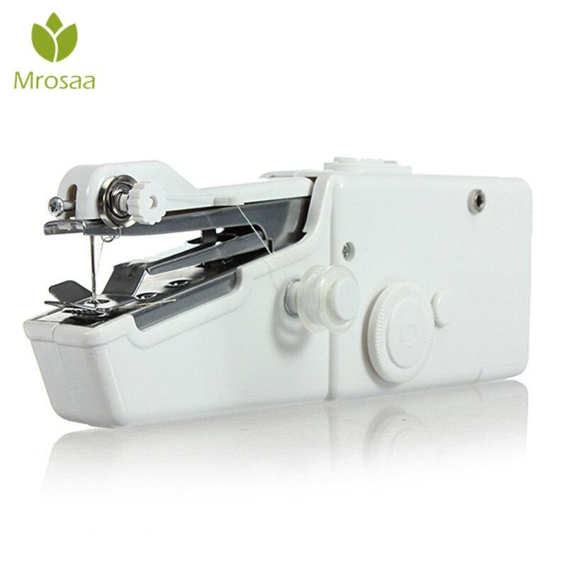 Mrosaa máquina de coser portátil de viaje eléctrica de mano para el hogar puntada inalámbrica práctica puntada sin cable mini herramienta de máquina de coser