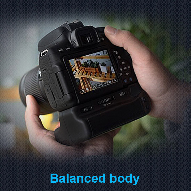 Professional Double Battery <font><b>Grip</b></font> Holder Pack Support Vertical Shooting for CANON EOS800D T7i X9i <font><b>77D</b></font> DU55 image