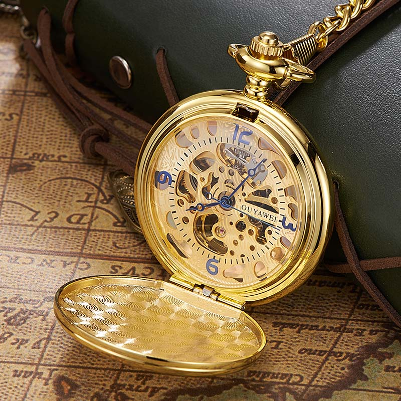 Ouyawei gold pocket watch mechanical men vintage pendant watch ouyawei gold pocket watch mechanical men vintage pendant watch necklace chain antique fob watches relogio bolso in pocket fob watches from watches on mozeypictures Choice Image