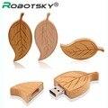 HOT!usb flash drive wood leaf pen drive 4G 8G 16G 32G USB Flash Drive Wooden Memory Stick pendrives u disk bamboo