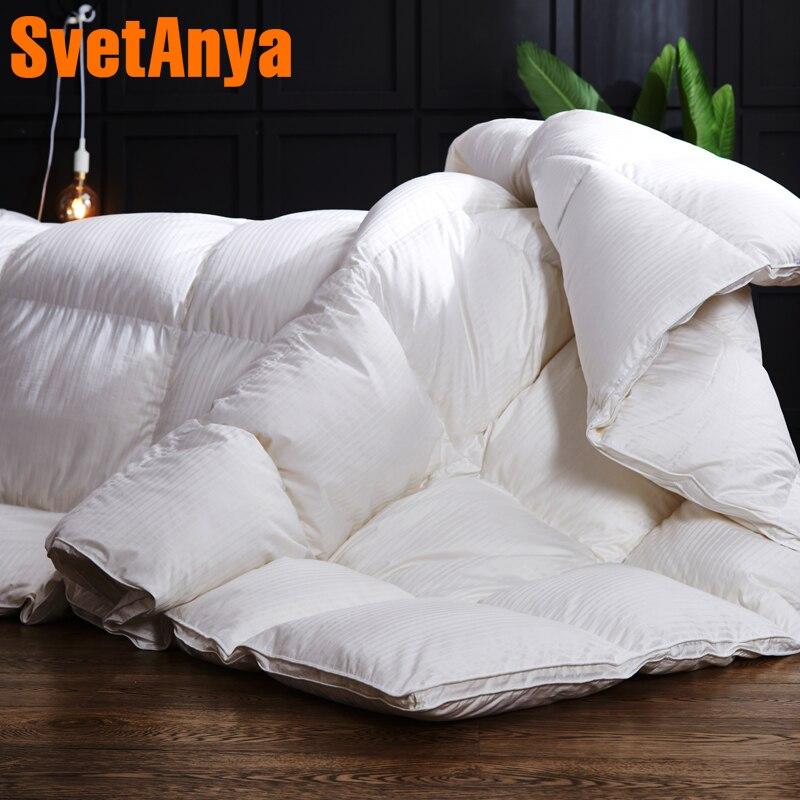 Svetanya сатин хлопок пуховые одеяла 3d Стёганое одеяло ed Стёганое одеяло король, королева полный размер одеяло зима толстые Одеяло одноцветное