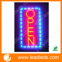 Animated Motion Running LED Business OPEN SIGN On Off Switch Bright Light Neon Signs Free Shipping
