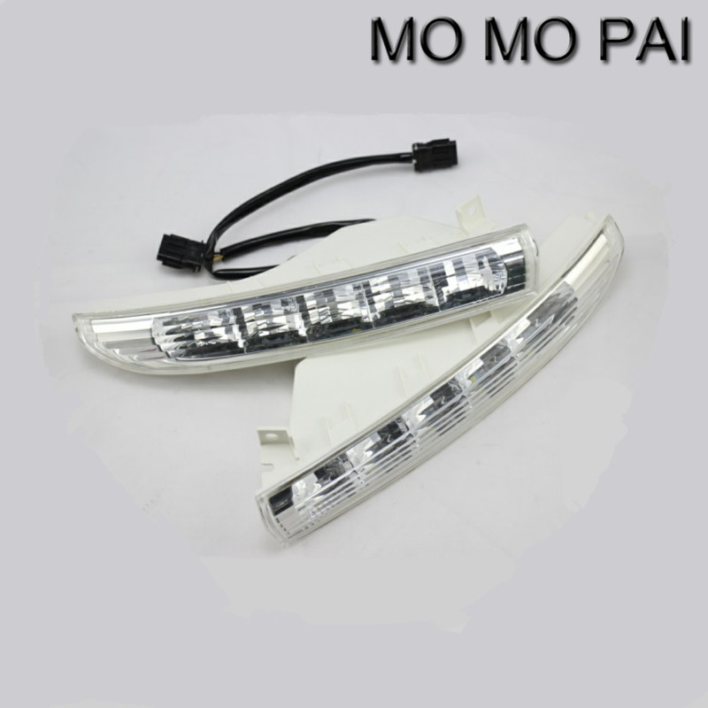 Car styling  2PCS Super Bright daytime running lights DRL fit for VW PASSAT CC 2009-2012 replace turn signal car light drl led daytime running lights for vw volkswagen passat b6 2007 2008 2009 with fog lamp hole super bright waterproof