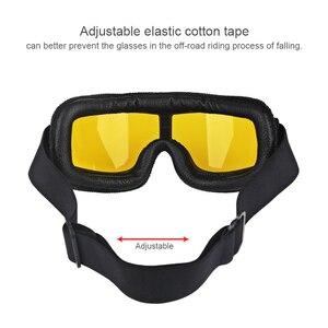 Image 3 - Herorider العالمي خمر نظارات للدراجات النارية دراجة نارية سكوتر السائق نظارات خوذة نظارات طوي
