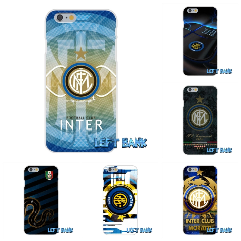 Inter Milan Italy Football Club Logo Soft Silicone TPU Transparent Cover Case For iPhone 4 4S 5 5S 5C SE 6 6S 7 Plus