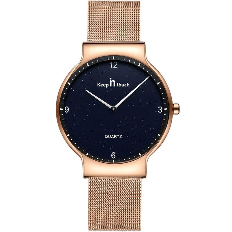 купить Ultra-thin fashion simple couple watch, steel waterproof watch, quartz watch, women's watch по цене 11952.31 рублей