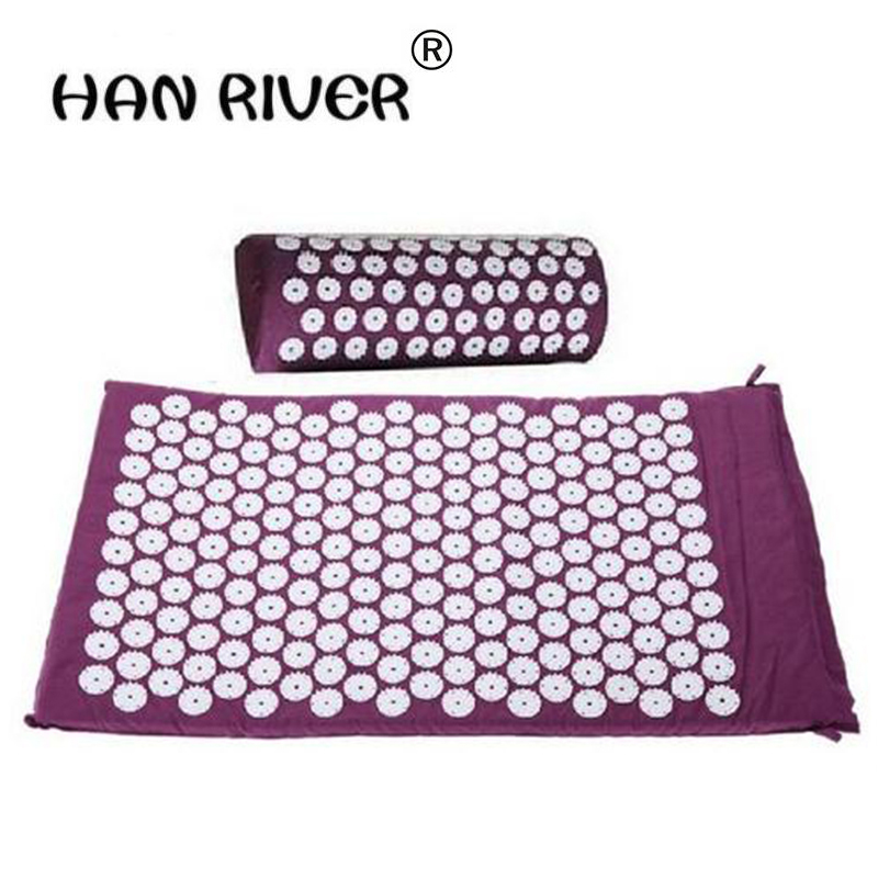 HANRIVER High quality Acupuncture massager  cushion pad pain relief pressure peak yoga mat pillow Body massager hot salesHANRIVER High quality Acupuncture massager  cushion pad pain relief pressure peak yoga mat pillow Body massager hot sales