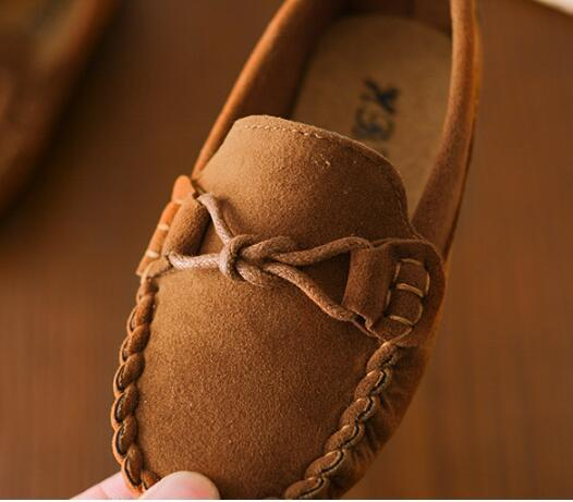 Size 21-35 Baby Toddler Shoes 2018 Spring Summer Children Soft PU Leather Casual Shoes Boys Loafers Girls Moccasins Shoes