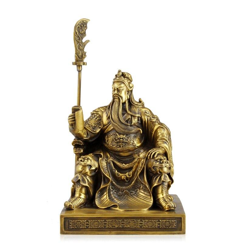 A copper ornaments with font b knife b font Fortuna Wu Guan Yu Guan Guan Erye