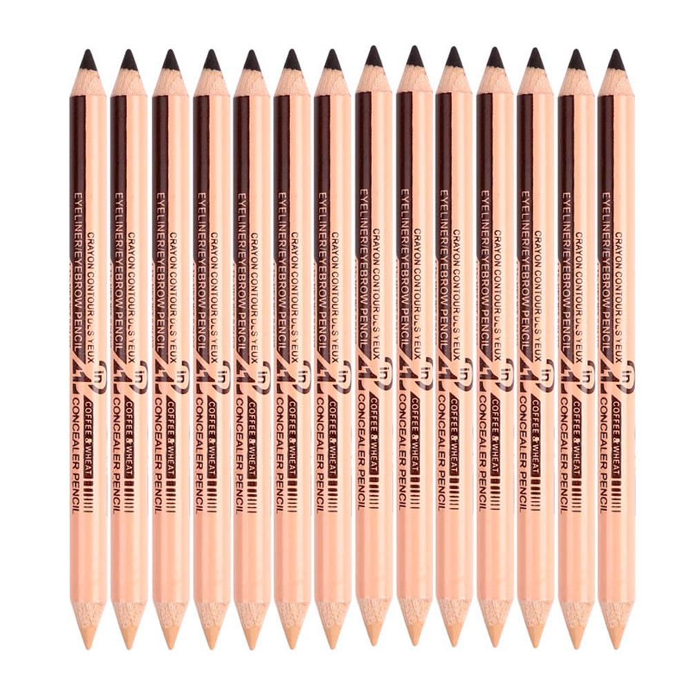 New Double-headed Black Eyeliner Creative Easy To Wear Dual-use Eyebrow Pencil + Portable Durable Waterproof Concealer Pen TSLM2
