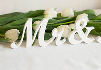 Free Shipping Mr And Mrs Wedding Wooden Signs Decorative Freestanding Letters White Custom Colors