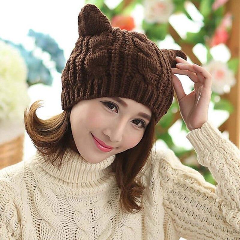 Atractivo Gato En El Patrón De Crochet Sombrero Foto - Manta de ...