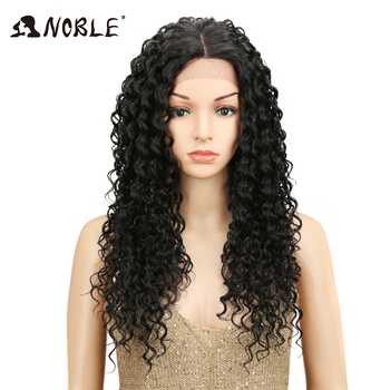 Noble 30 Inches Long Curly Wigs For Black Women 1b Afro Kinky Curly Hair Middle Part Space Synthetic Lace Front Wig Pruiken Buy At The Price Of 27 78 In Aliexpress Com Imall Com