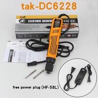 DC halbautomatische elektrische schraubendreher DC6210 neue halbautomatische charge Elektrische schraubendreher mit netzteil HEIßER!