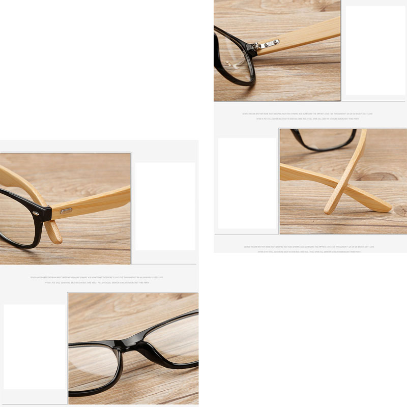 LVVKEE merek Kayu Bingkai wanita Mens datar cermin kacamata Baca - Aksesori pakaian - Foto 6