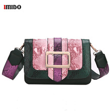 где купить Crossbody Bag For Women Fashion Snake Skin PU Leather Shoulder Bag Female Chain Messenger Bag Samll Flap Bags Bolsas Feminina по лучшей цене