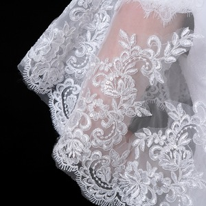 Image 5 - JaneVini New White Bridal Lace Bolero Appliques Sequined Capes Low Front Long Back Summer Shrug Women Shawls Wedding Accessories