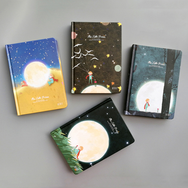 New Vintage Little Prince Notebook Color Paper Hardcover Diary Book Planner School Office Supplies Stationery