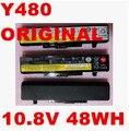 Batería 10.8 v 48wh original del ordenador portátil para lenovo ideapad y480 y580 v480 v580 borde e430 e435 e530 e535 l11s6y01 45n1048 45n1049