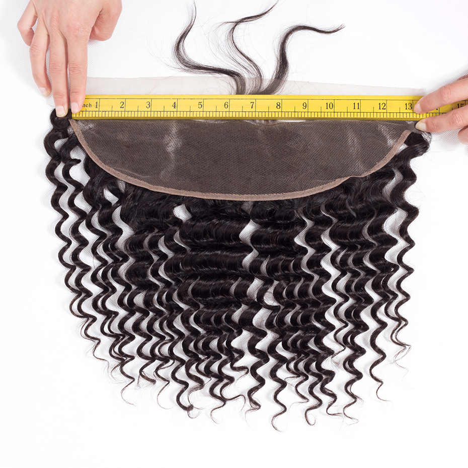 Gabrielle 13x4 кружева Фронтальная застежка Бесплатная/Средняя/три части 8-22 дюймов индийская глубокая волна 100% не Реми натуральные волосы натуральный цвет