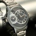 High-end men's fashion steel bracelet watch new waterproof double dial watch brand dual movement men business quartz watch