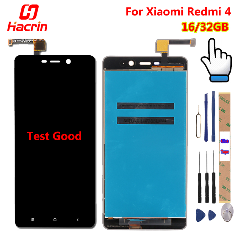 Xiaomi Redmi 4 Pro display LCD + Touch Screen Digitizer Sensore di Ricambio per Assieme per Redmi 4 Redmi4/Prime 5.0 pollice