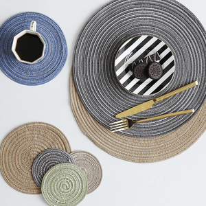 Скандинавский высококачественный термоизоляционный коврик для рами и прочный чистый цвет коврик для чашки серый синий зеленый фото фон де...