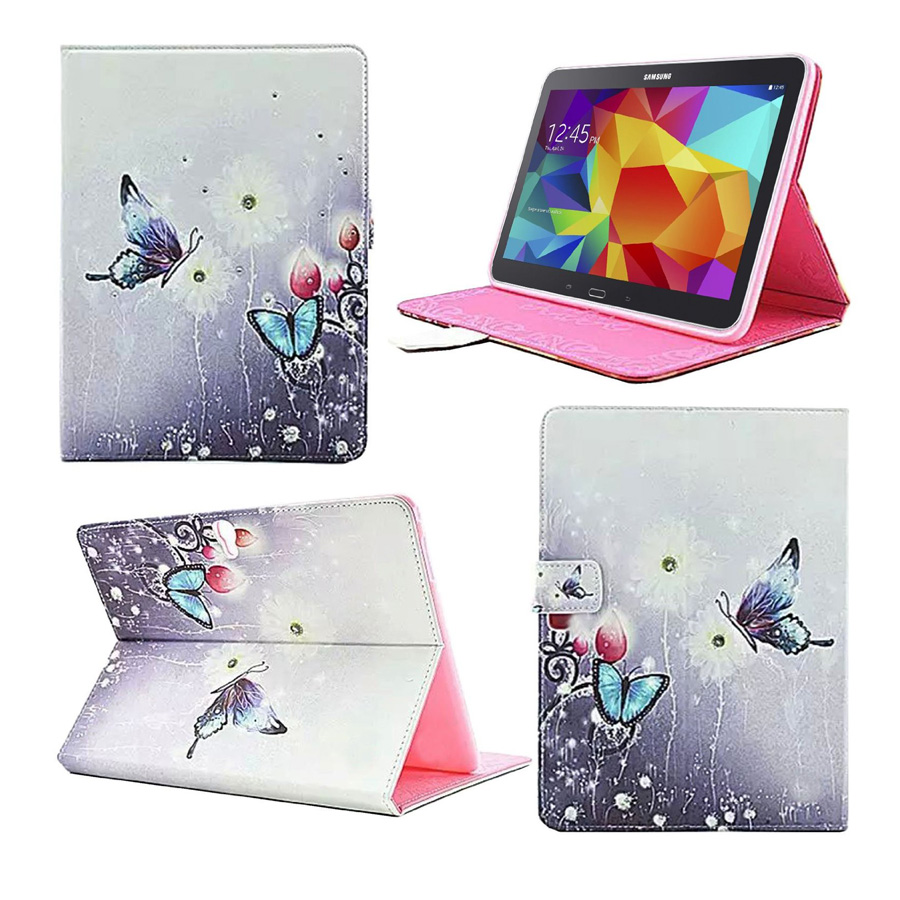 2016 New Case for Samsung Galaxy Tab 410.1 inch Tablet Funda Diamond Design Flip Folio Cover Case for Samsung SM-T530 T531