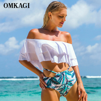 OMKAGI Brand Micro Swimsuit Swimwear Women S Bikinis Set Sexy Push Up Swimming Bathing Suit Beachwear