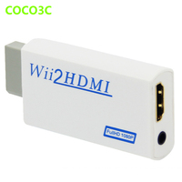Wii To HDMI adapter 3.5mm Audio Video Output Wii2HDMI Upscaling Converter Full HD for Nitendo Wii console to 1080P HDTV Monitor
