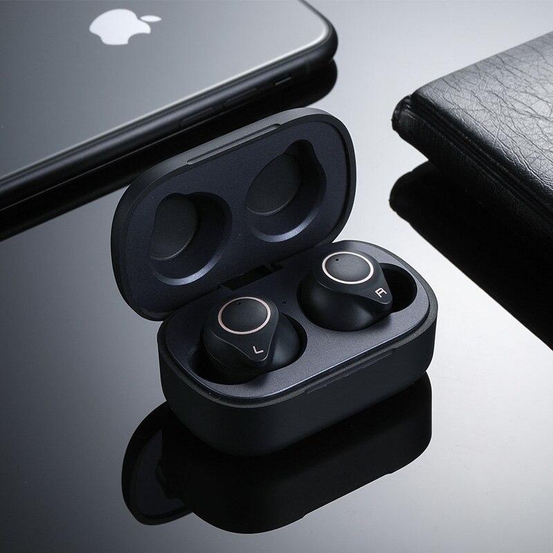 TWS True Bass Wireless Earbuds HiFi Bluetooth 5.0 Earphone QCC3020 Support AptX HD ACC CVC8 Noise Cancellation with Mic Headset