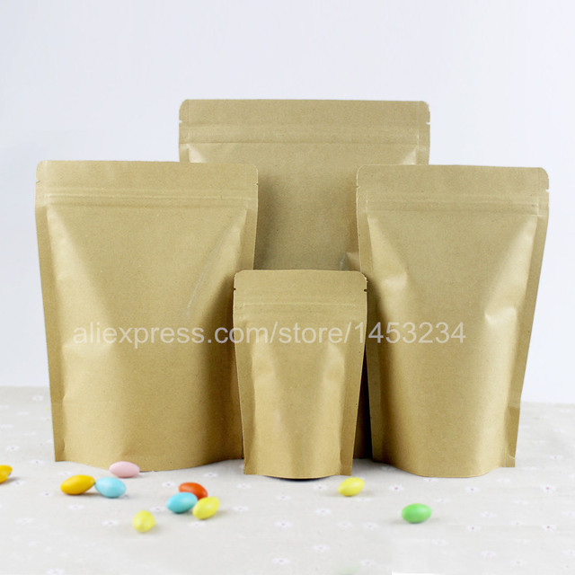 Alice Small Kraft Food Bags Packaging 6 8cm Brown Paper Bag For 300pcs Lot Christmas Gift In Wring Supplies From Home Garden On