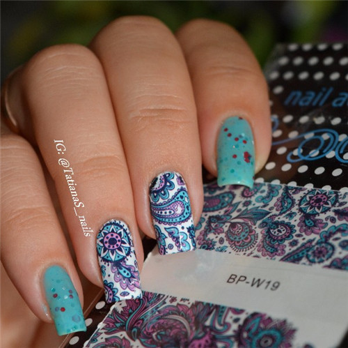 1 Sheet Born Pretty Beauty Nails Blooming Flower Nail Art Water Decals Fl Transfer Stickers Bp W19 In From Health On