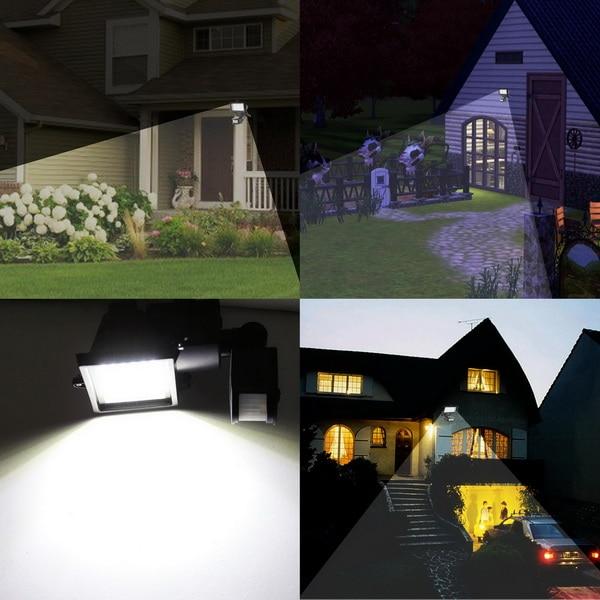 Homdox LED Motion Sensor Floodlight Waterproof 60 LED Sense Reflector Solar Security Lamp Outdoor Spotlights Garden Light #40-23
