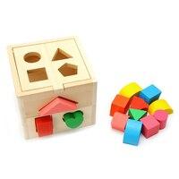 Hot Wooden Block Sorter Box Baby Toddler Preschool Kids Color Shape Learning Toy