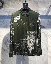 Новинка 2018 Высокое качество модные блузки и рубашки взлетно-посадочной полосы Лето мужчина бренд Роскошные Мужская одежда A08254