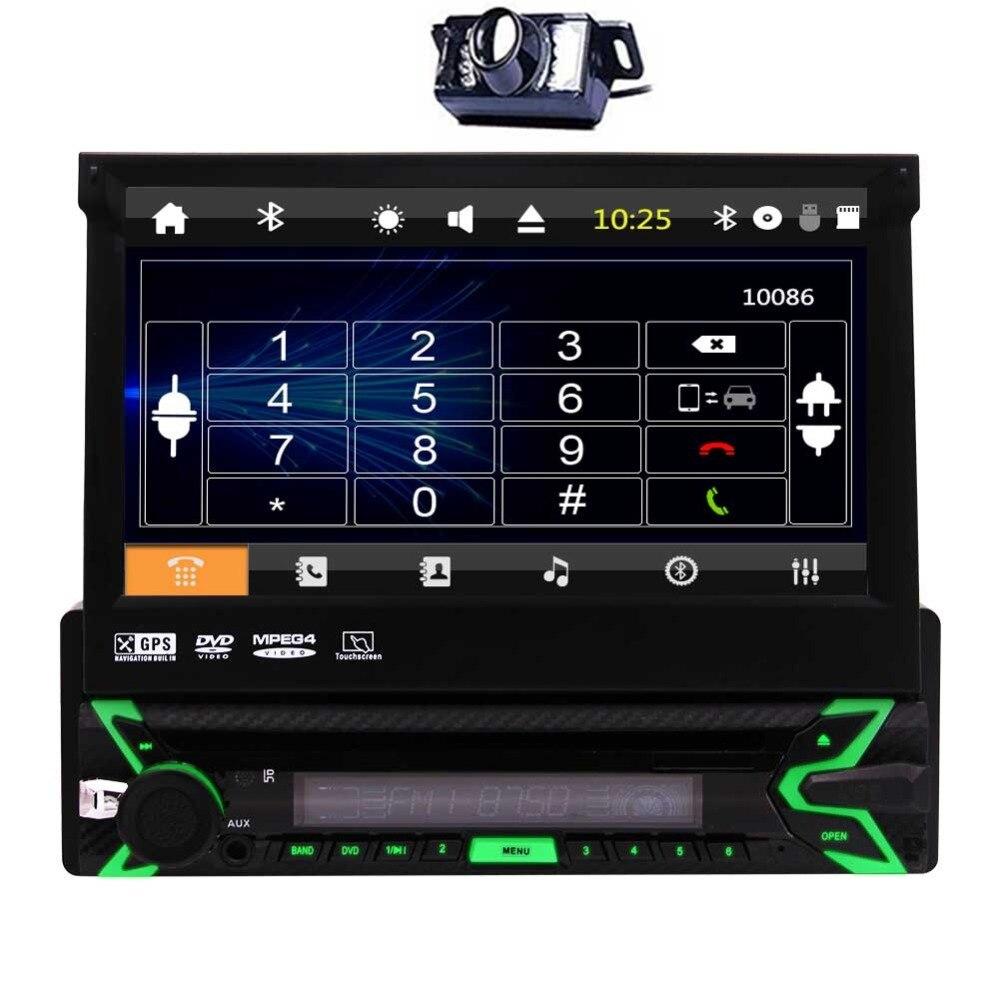 Auto Radio dans Dash Wince système pièces de véhicule unique Din GPS électronique MP5 Autoradio prise en charge HD vidéo lecture + télécommande