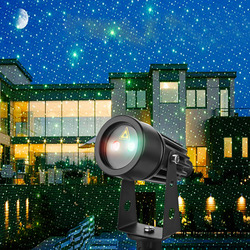 Mini Outdoor IP65 Waterproof Red Green Moving Twinkle Laser Lights Projector Decorations For Garden Lawn House Christmas