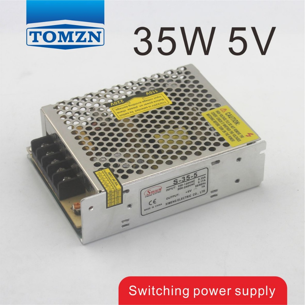 35W 5V 7A Single Output Switching power supply for LED Strip light switching power supply 5v ccfl inverter instead of cxa m10a l 5 7 inch industrial screen high pressure lm 05100 drive