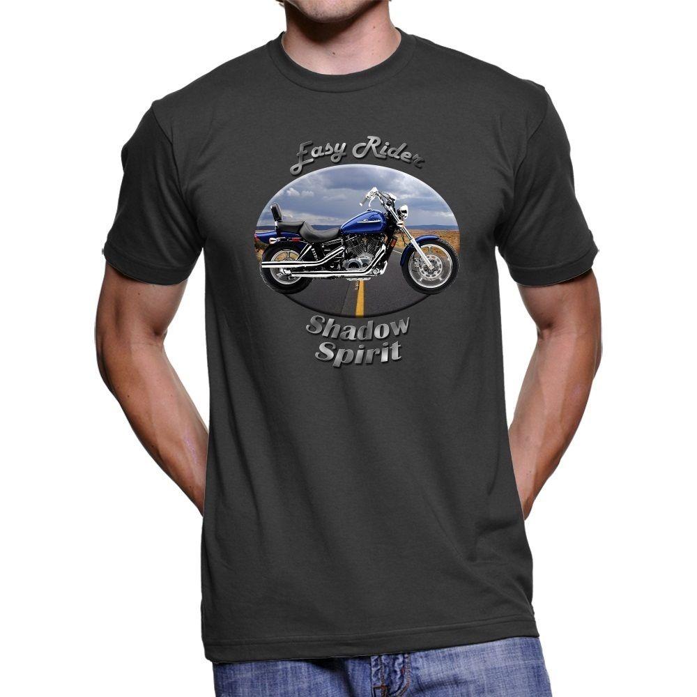 2018 New Summer Tee Shirt Japanese Motorcycle Shadow Spirit Easy Rider Men`s Dark T-Shirt Cool T-shirt