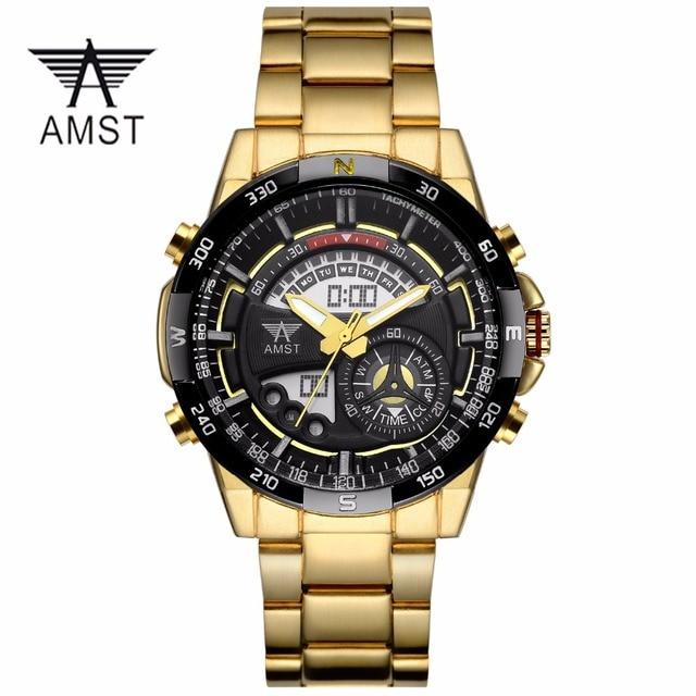 Часы Мужчины Армия Мода Спорт Военная Наручные Часы AMST Часы Мужчины Люксовый Бренд 5ATM Dive Аналоговые Кварцевые Часы montre homme