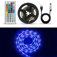 DC5V USB LED strip 5050 RGB Flexible Light 1M 2M 5M TV Background Lighting RGB LED strip Adhesive Tape IP20 / IP65 waterproof neoteck 1m led rgb strip color changing usb tv background lighting smd 5050 waterproof led ribbon tape for indoor outdoor decor
