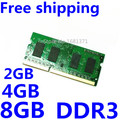 100%NEW for 2GB/4GB/8GB 2RX8/1Rx8 10600s 12800s DDR3 1333/1600MHz Notebook/Laptop Memory Ram