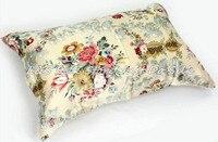Free Shipping 100 Silk Pillowcase Pillow Case Pillow Cover Envelope Back Print Stain Fabric Silk Bedding