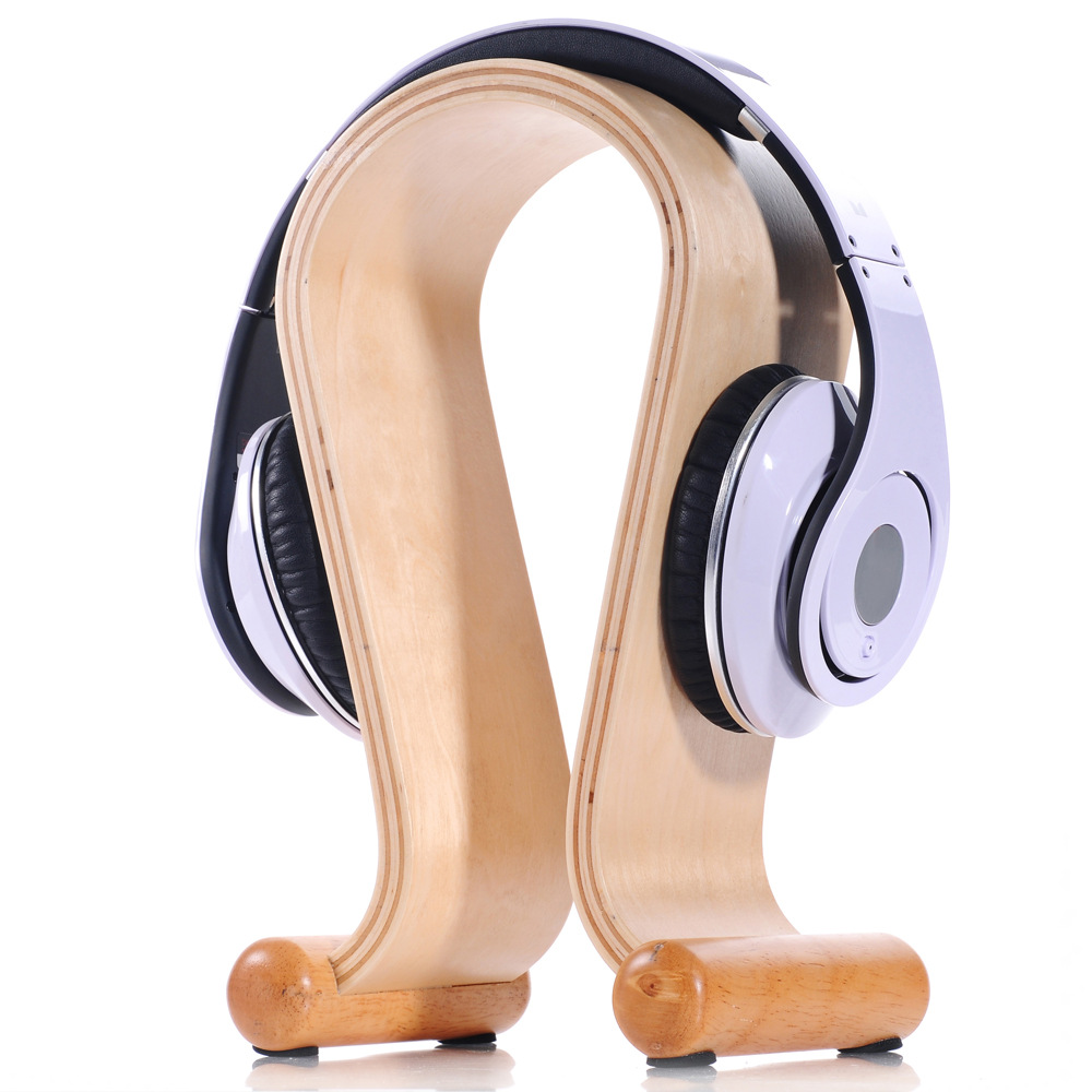 u shaped walnut finished or white ash finished display stand wood headphones stand wooden hanger ch177 natural side chair walnut ash