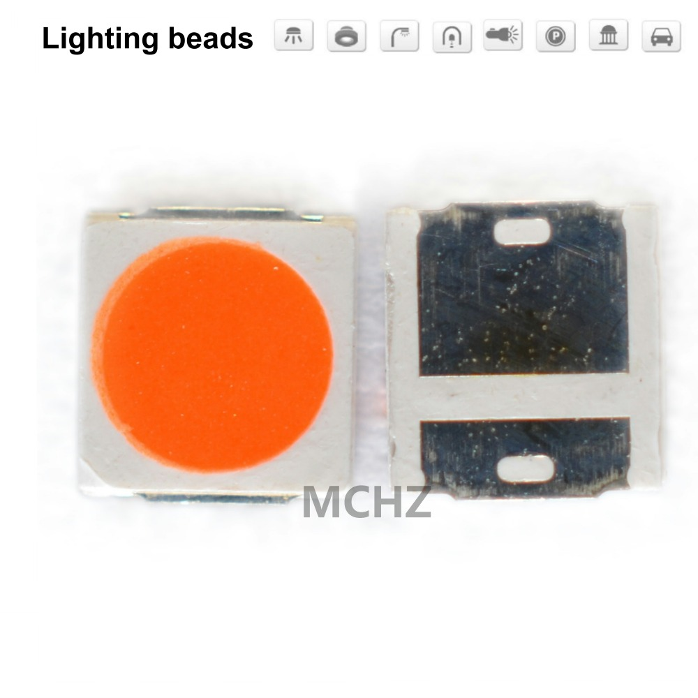200 pièces SMD LED perles 3030 rouge lampe perles dongzhu lampe beaChip 1 W 3 V 1 w 350MA 130LM rouge bleu vert blanc chaud pleine puissance un Watt