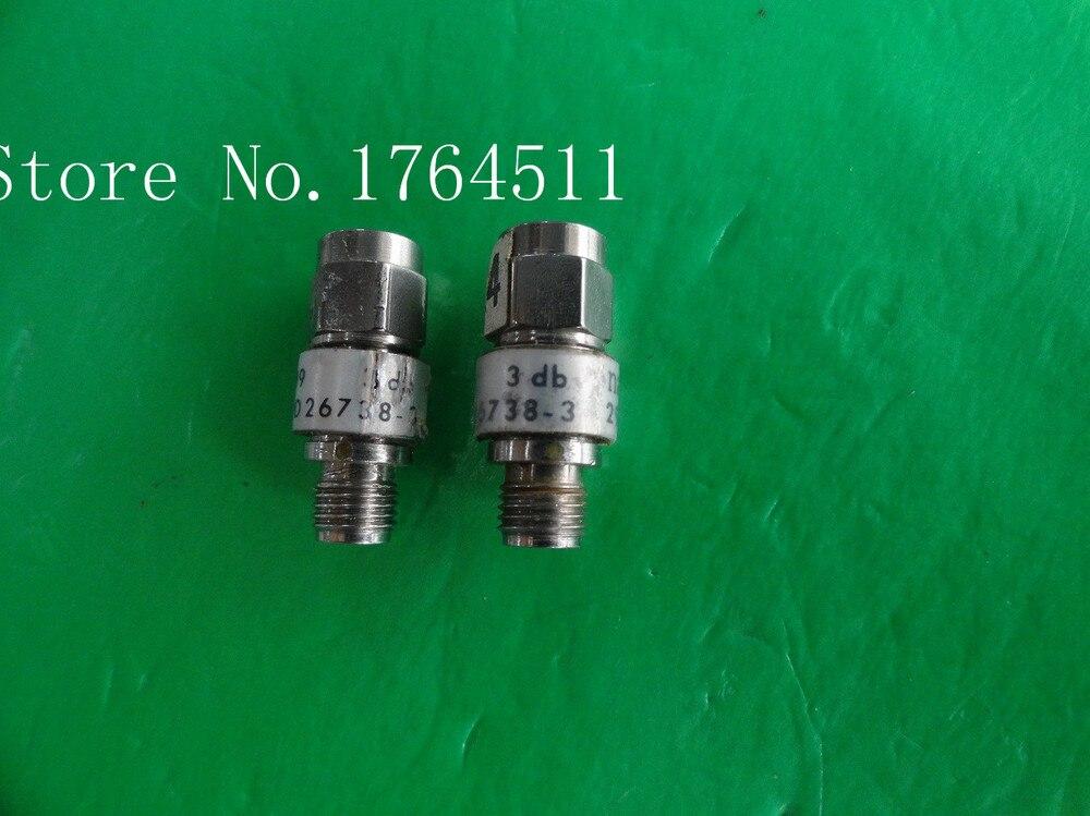 [BELLA] NARDA 26738-3 DC-18GHz 3dB 2W SMA Coaxial Fixed Attenuator  --2PCS/LOT