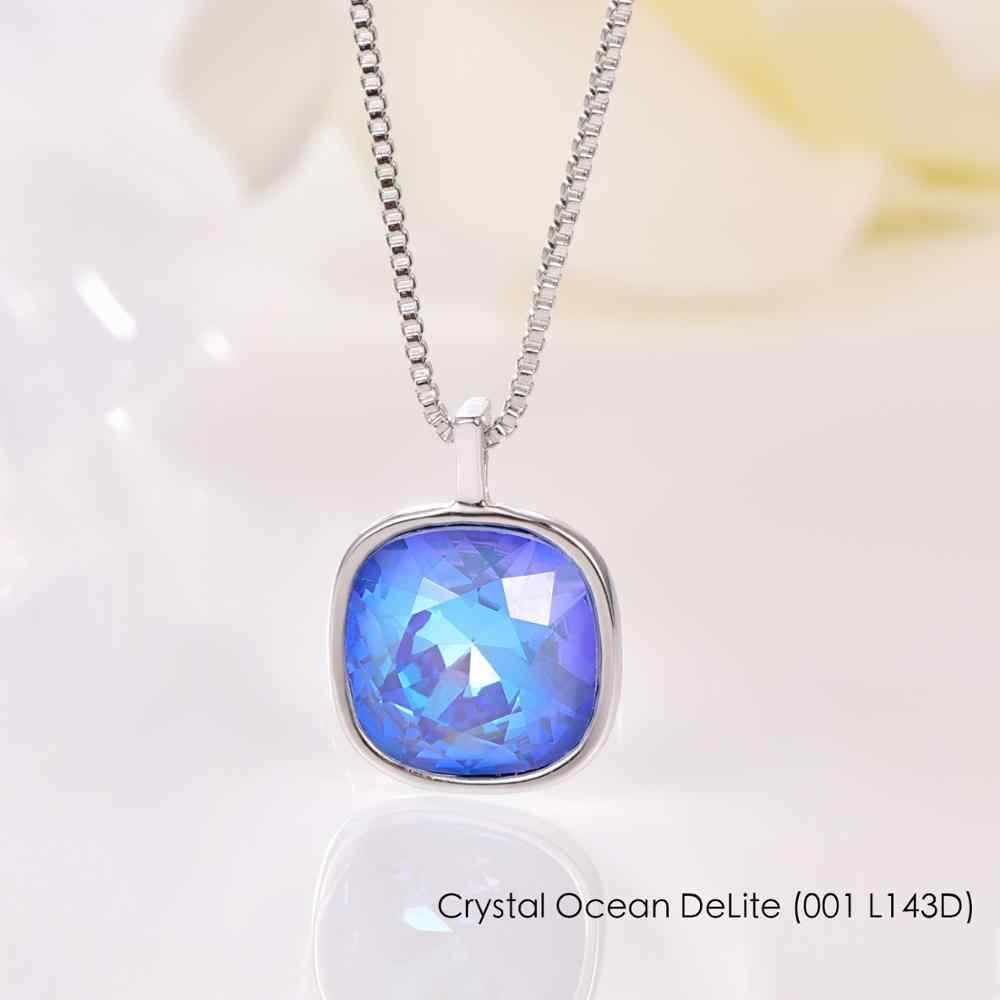 Malanda Ggeometric colgante collares cristales originales de Swarovski Collar para mujer moda boda joyería mamá niña regalo
