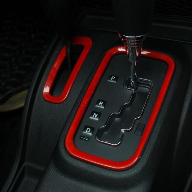Interior Accessories ABS Chrome For Jeep Wrangler Center Console Gear Penal  Decorative Cover Frame Sticker Trim